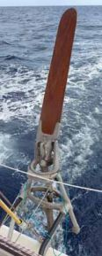 aries windvane self-steering gear in action
