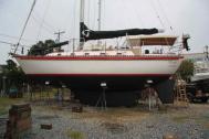 A Tayana 42 Bluewater Cruising Sailboat