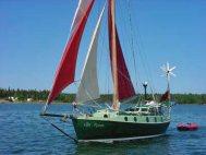'Can Pyran', a steel long distance cruising sailboat