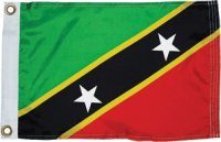 The National Flag of St Kitts & Nevis
