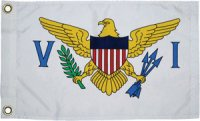 The National flag of The United States Virgin Islands (USVIs)
