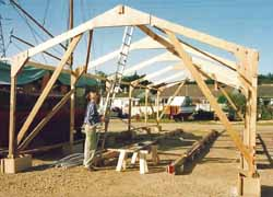 building a shed for a wooden boat building project