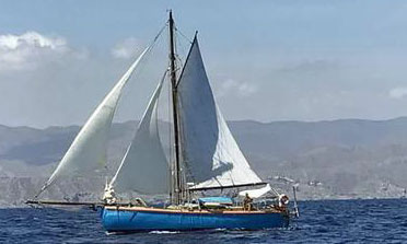 A 37 ft ferrocement cruising sailboat for sale