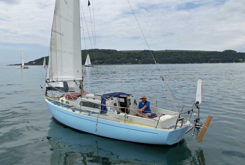 Sailboat 'Lizzie-G', an entrant in the 2015 Jester Challenge