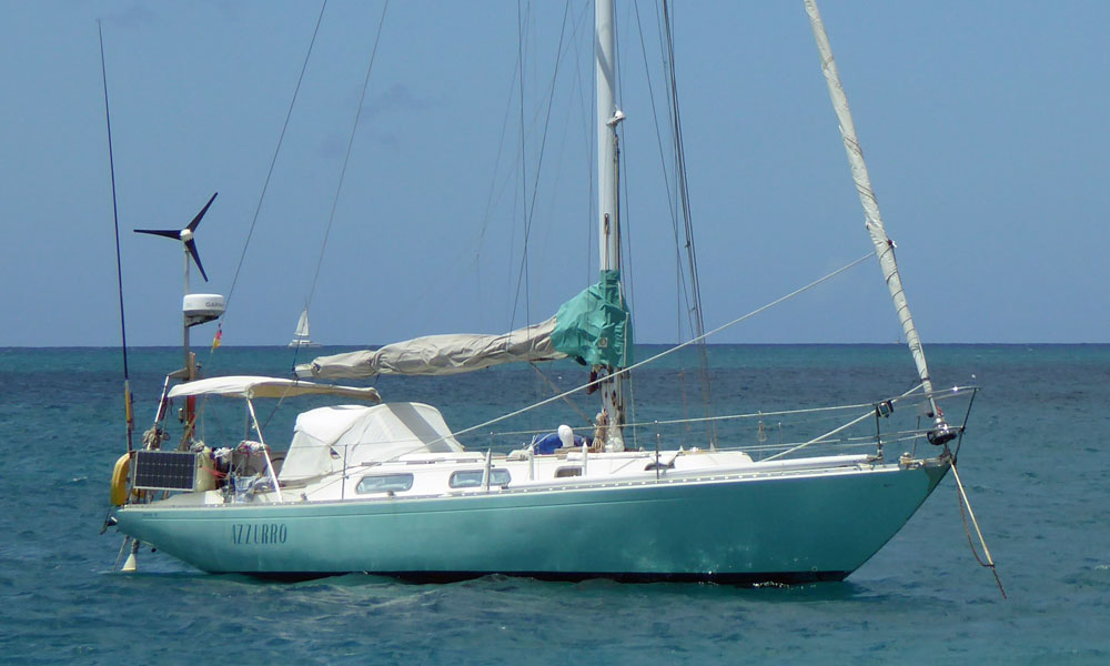 An Ohlson 38 sailboat