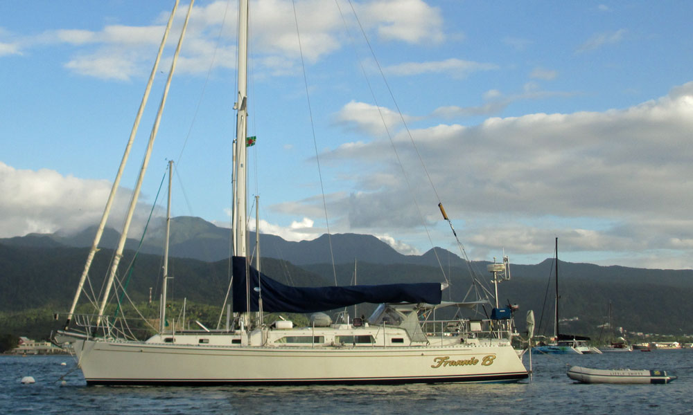 The Carl Schumacher designed Outbound 44 cruising yacht