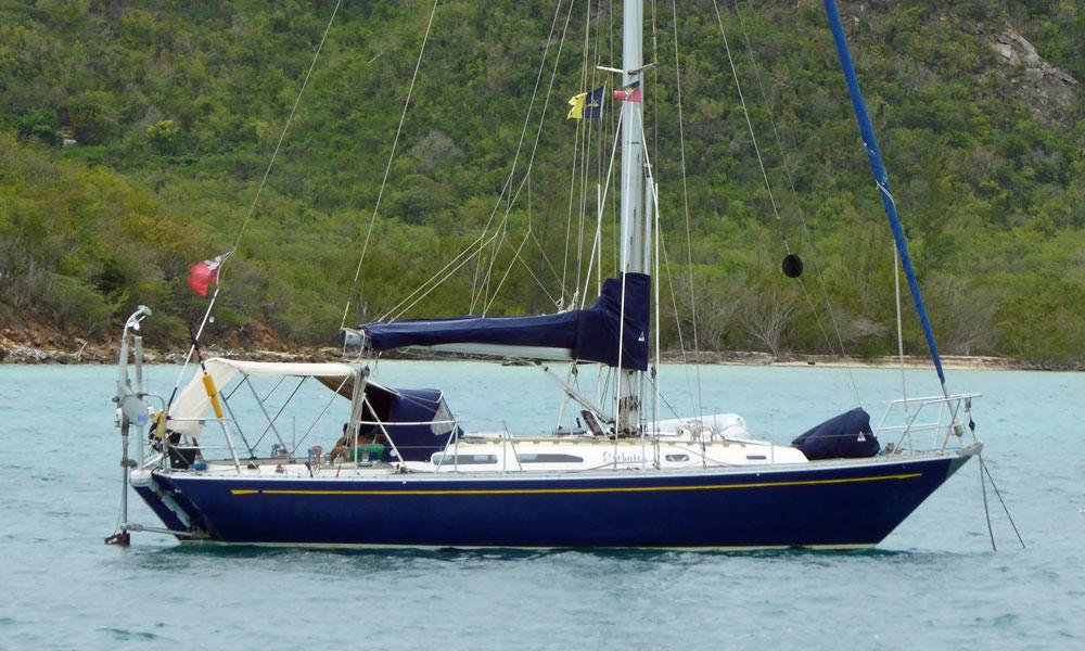 A Holman & Pye designed Rusler 36 cruising yacht