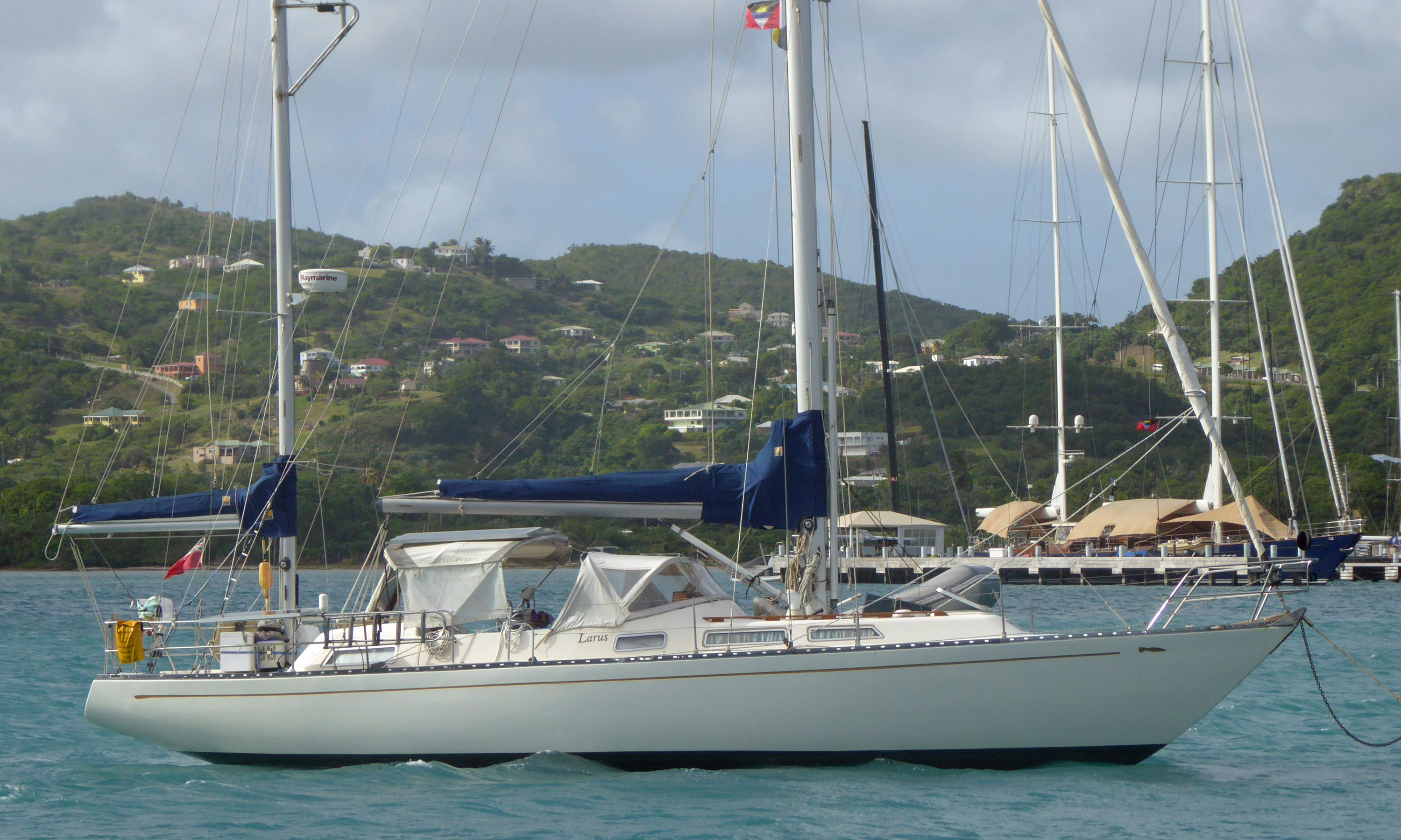 A Slipper 42 sailboat