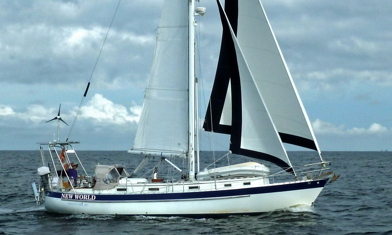 A Valiant 40 cutter-rigged, long-distance cruising yacht