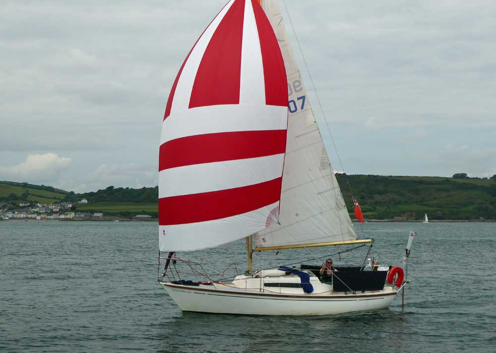 Sailboat 'Duet', an entrant in the 2015 Jester Challenge