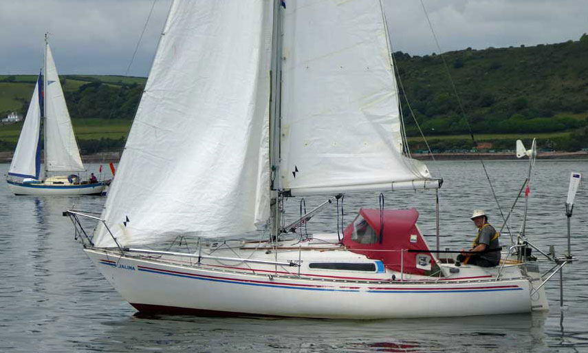 Sailboat 'Jalina', an entrant in the 2015 Jester Challenge