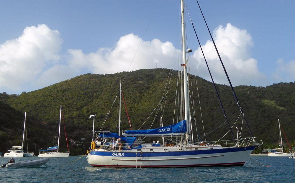 A Valiant 47 sailboat