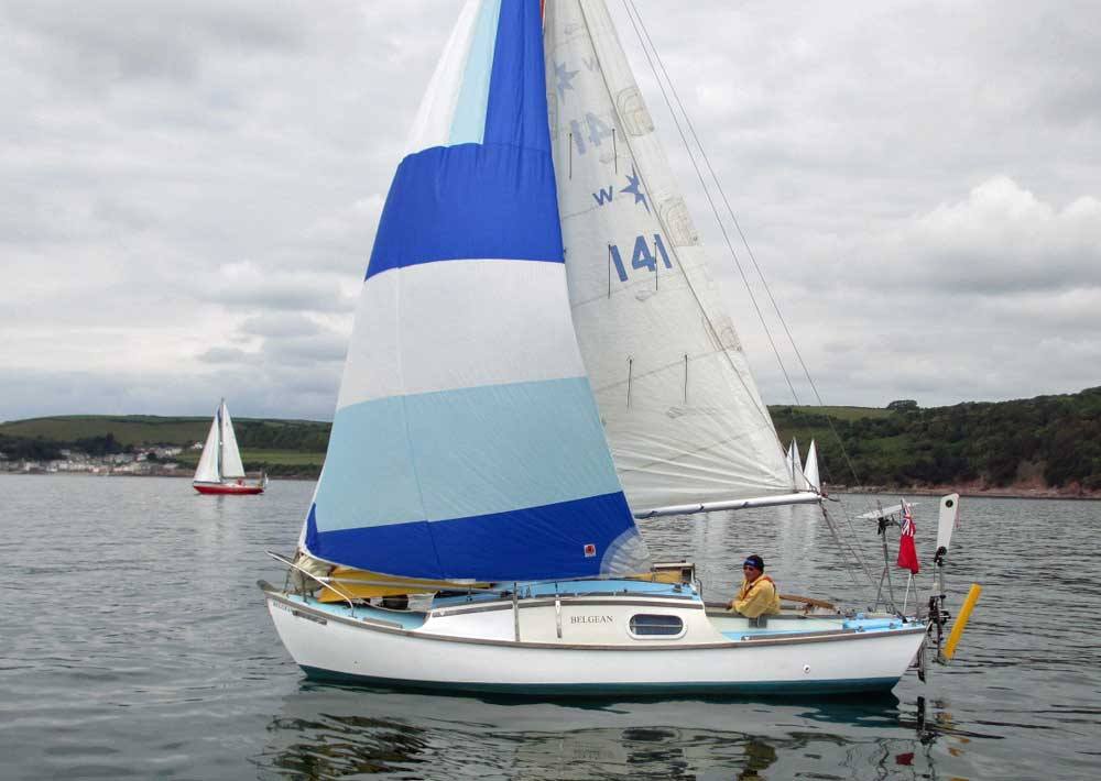 Sailboat 'Belgean', an entrant in the 2015 Jester Challenge