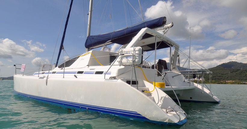 An Admiral 38 Catamaran