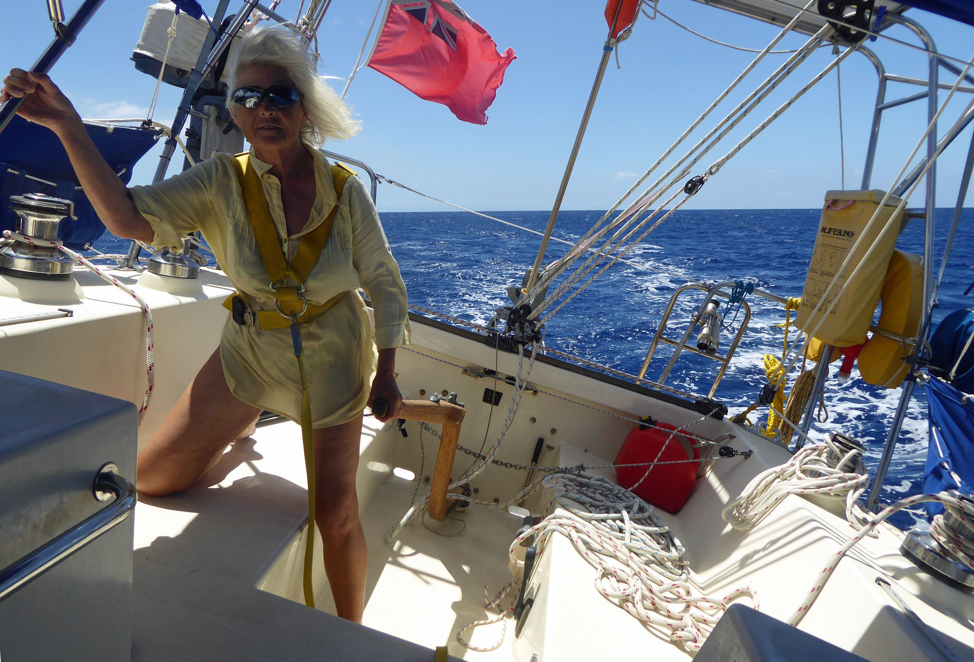 Cruising off Montserrat, West Indies
