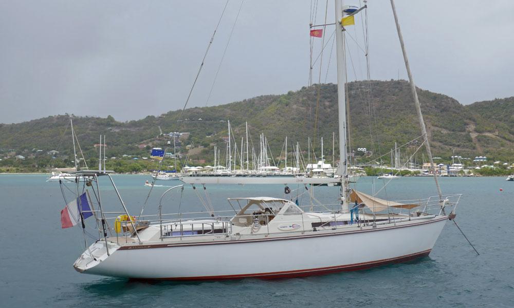 An Amel Santorin Sailboat