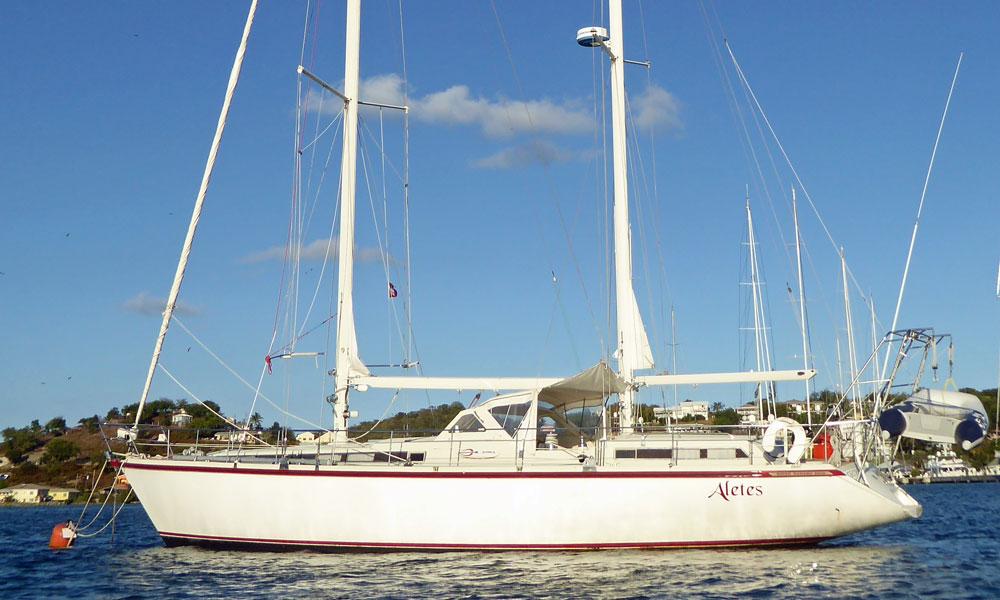 An Amel Super Maramu 2000 cruising yacht