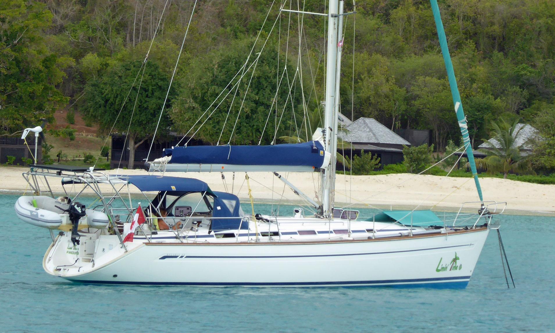 A Bavaria 44 cruising yacht