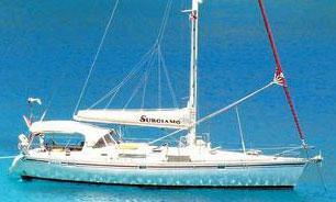 A Beneteau 500 sailboat