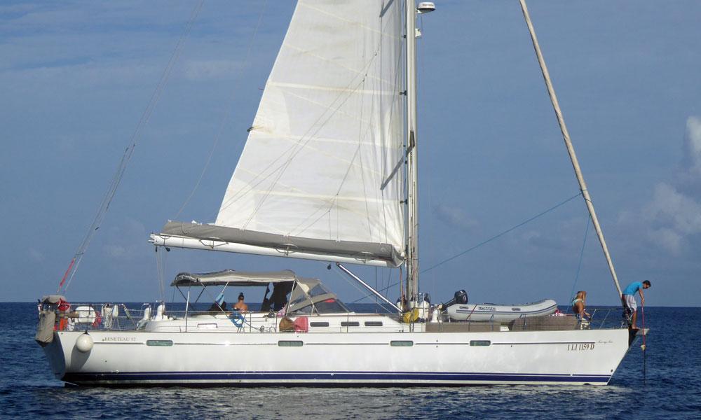 A Beneteau 57 sailboat