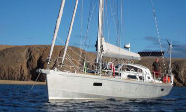 A Boreal 44 aluminium sailboat