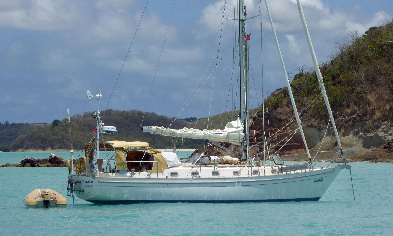 A Bowman 45 sailboat