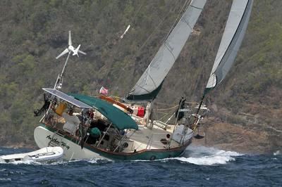 A CSY 37 sailboat