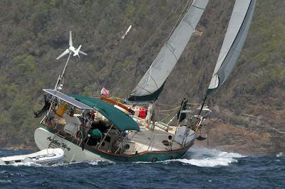 a CSY 37 cruising sailboat
