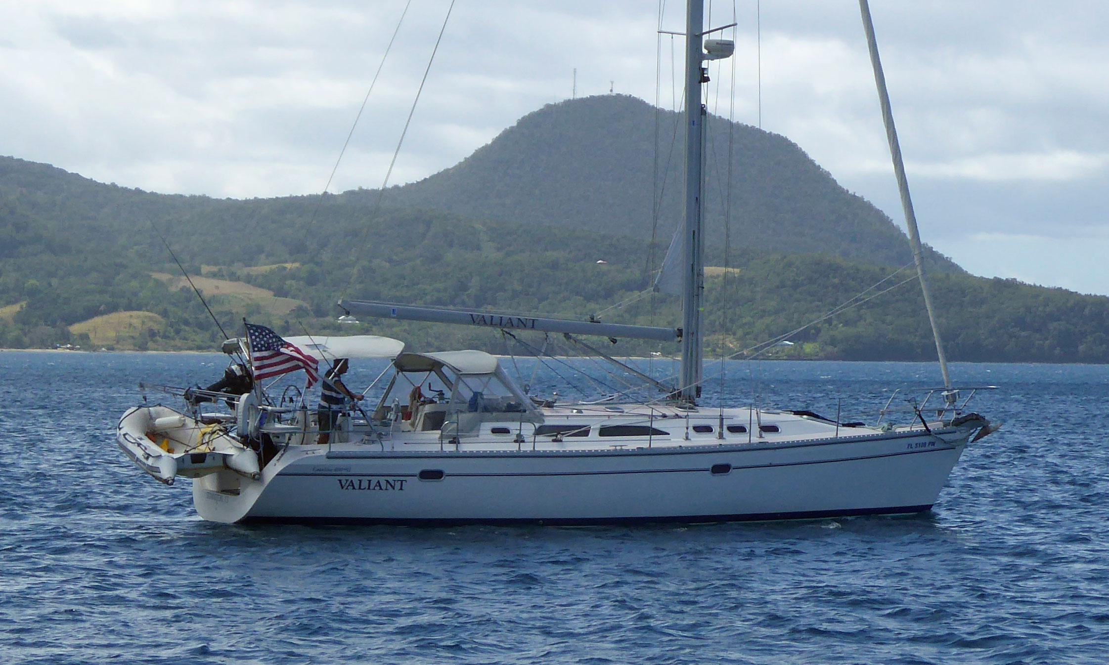 A Catalina 400 Mk2 sailboat under power