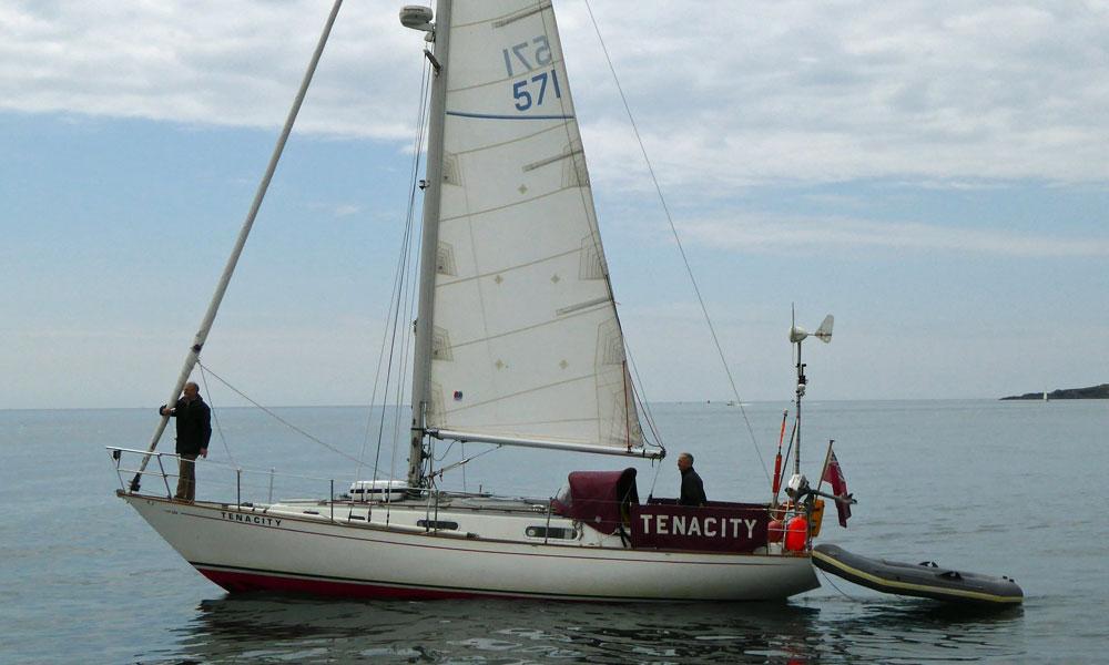 A Contessa 32 sailboat