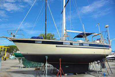 A Corbin 39 long distance cruising sailboat