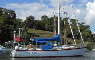 A Peterson 44 Sailboat