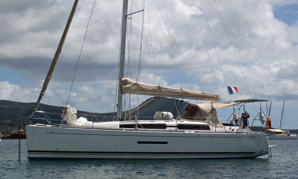 A Dufour 380 sailboat