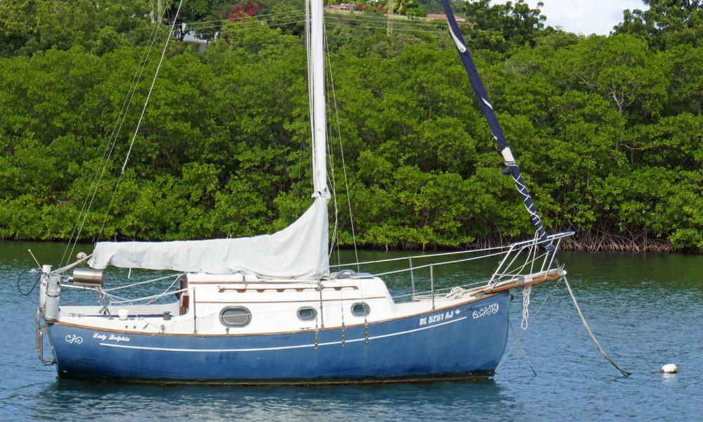 a Flicka 20 sailboat