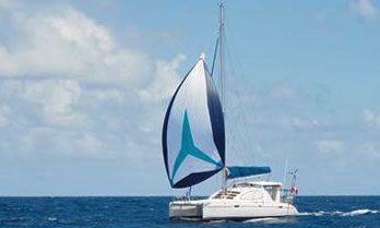 'Fox', a Leopard 40 catamaran sailboat