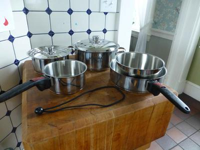 Used Magma Marine Stainless Nesting Pots and Pans for Sale