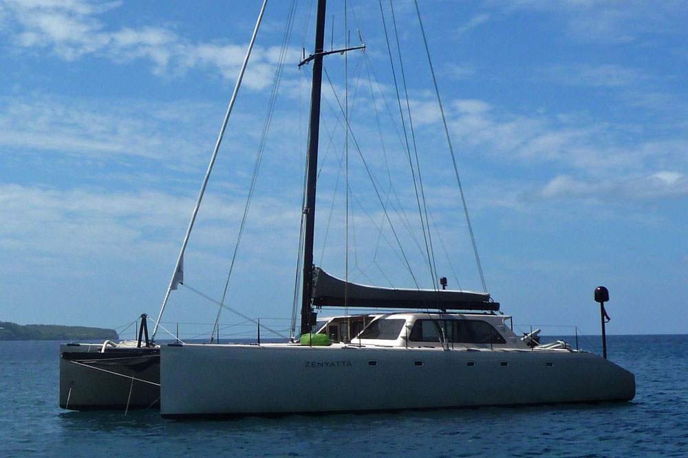 A Gunboat 62 performance cruising catamaran from South Africa