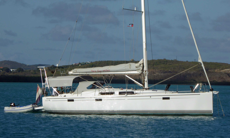 A Hanse 415 sailboat