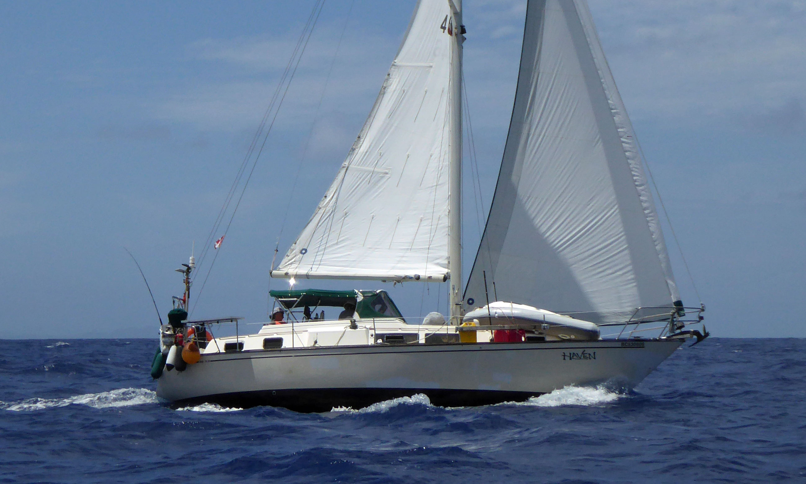 An S2 11.0 sailboat