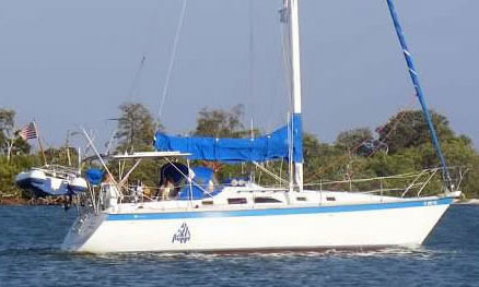 A Hunter 34 sailboat for sale