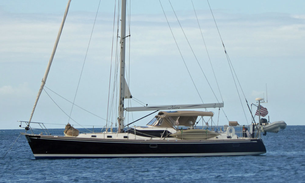 A Hylas 56 sailboat