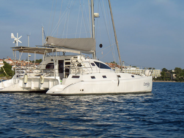 An Island Spirit 40 catamaran