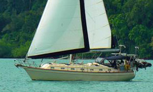 'Chapter Two', an Island Packet 420 sailboat for sale