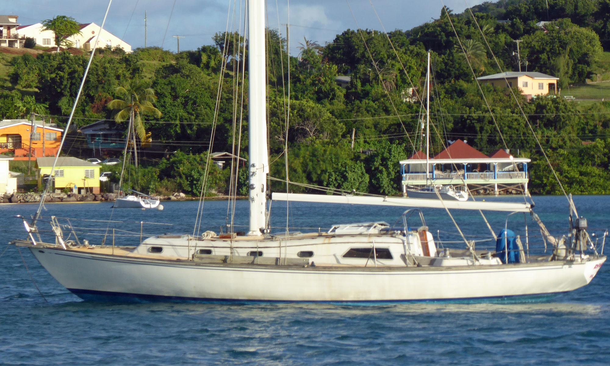 An Islander 44 sailboat