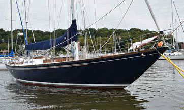 'Charisma', an Islander 55 for sale. US Senator Ted Kennedy was a previous owner of this yacht.