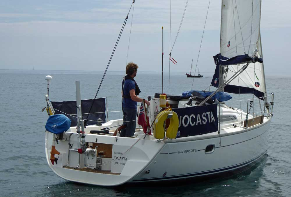 Sailboat 'Jocasta', an entrant in the 2015 Jester Challenge