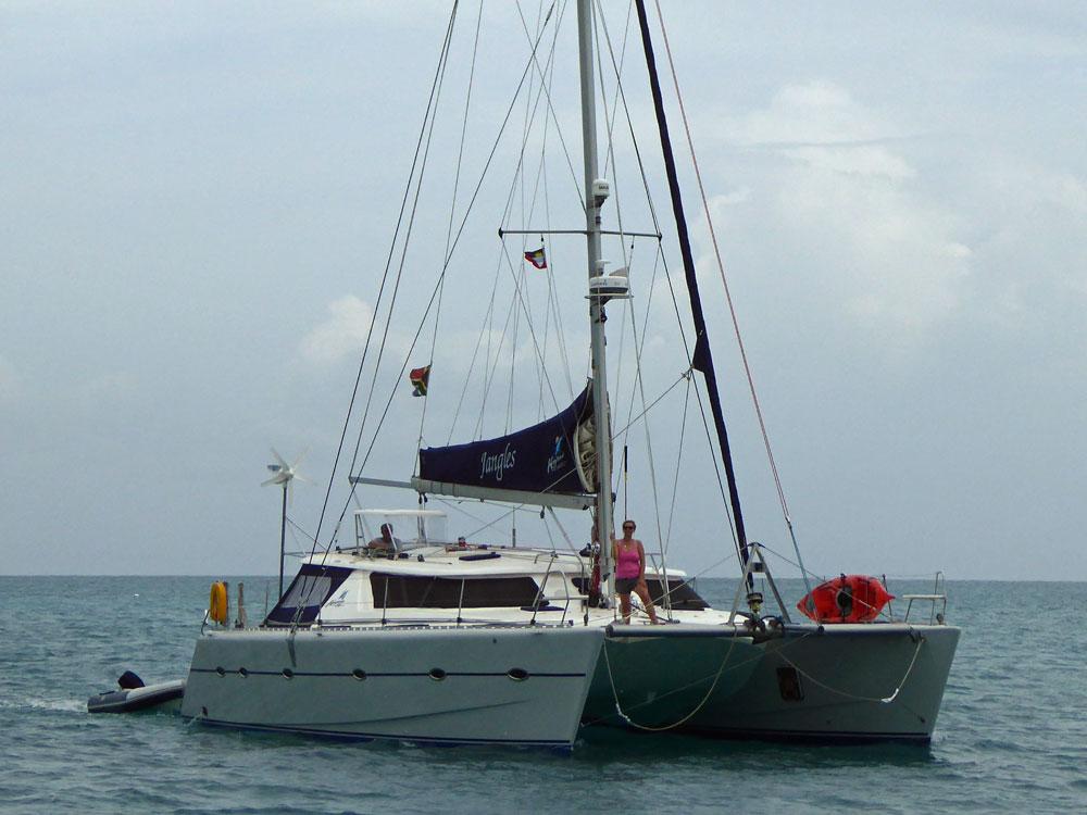 A Knysa 480 Cruising Catamaran