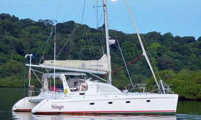 'Stingo' a Maxim 380 Cruising catamaran - Price Reduced Drastically After Lightning Strike