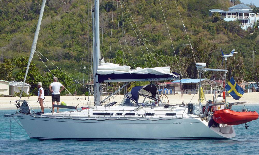 Moody 44 sailboat