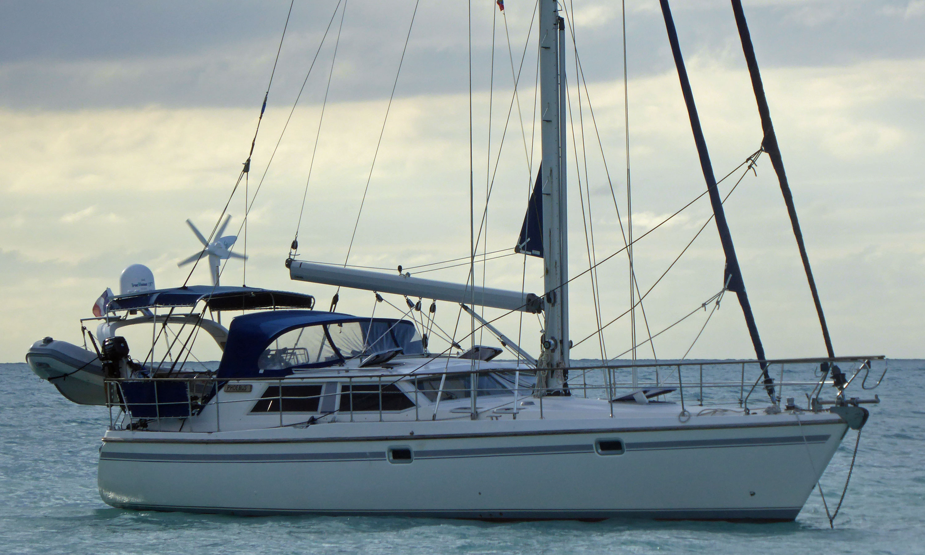 Moody Eclipse 43 cutter-rigged sailboat
